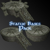 pack statue base 3d 3ds