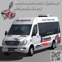 3d sprinter van britannia coach model