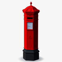 british mail box 3d model