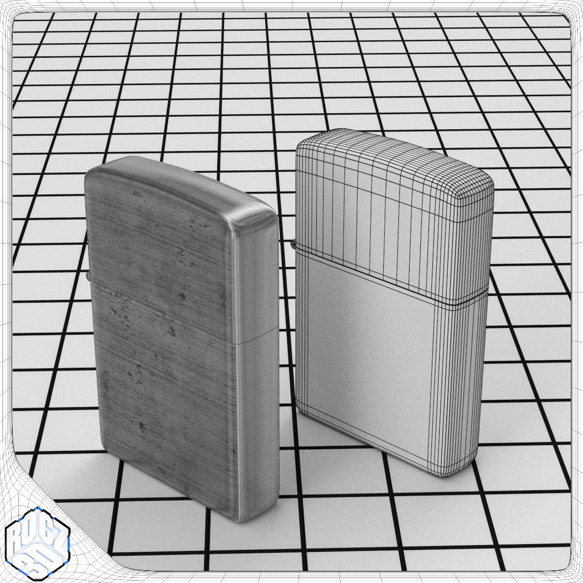Windproof Lighter_3d Model_TexWire.jpg