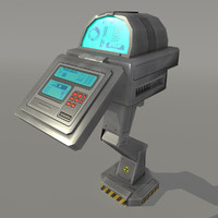 3d sci fi console