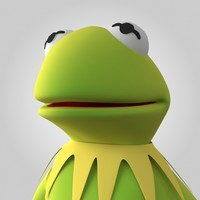 3d kermit frog model