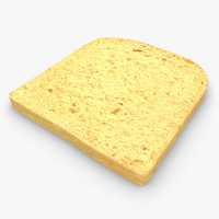 3d model bread slice 03