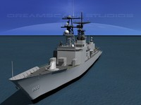 3ds max kidd class destroyer