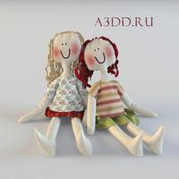 dolls textile 3d model