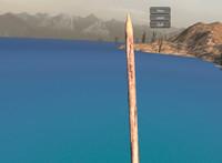 wooden spear 3d obj