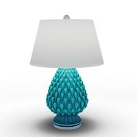 Aqua Raindrop Ceramic Table Lamp
