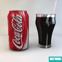 cola justtomas 3d obj