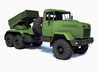 3ds max truck kraz bastion