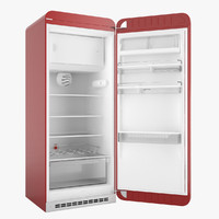 Smeg FAB28 50's Style Refrigerator with interior