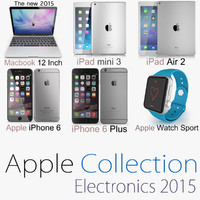 3d model colection apple 2 2015