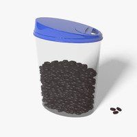 3d bank plastic beans model