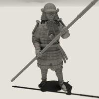 samurai figure 3d max