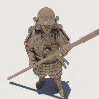 3ds max samurai figure