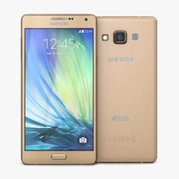 3d model samsung galaxy a7 champagne