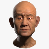 old man head 3d max