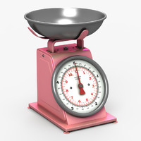 3d model kitchen scale