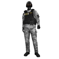 3d rigged swat soldier 2 model
