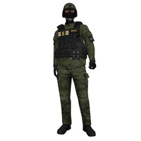 3d rigged swat soldier 4 model