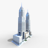 3d al kazim towers model
