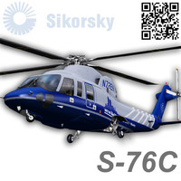 sikorsky s76c med flight 3d model
