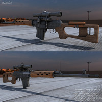 3d dragunov sniper riffle model