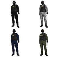 3d model rigged swat soldier
