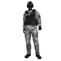 3d rigged swat soldier 2