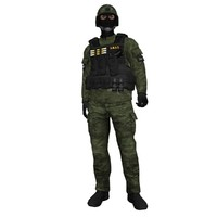 3ds max rigged swat soldier 4
