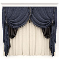 3d curtains model