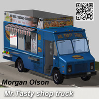 3ds max shop truck mr tasty