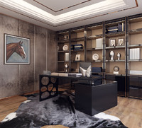 3d model modern home office 03