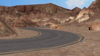 3ds road mountains -
