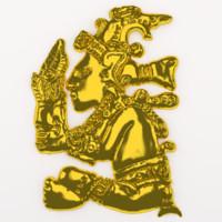 3d model mayan sculpture
