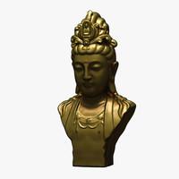 bodhisattva statue 3d max