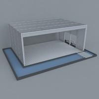 3d cafe design model
