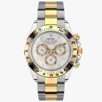 3d model rolex daytona steel gold