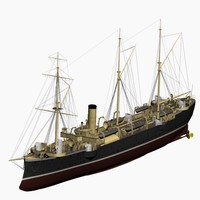 cormoran cruiser imperial german 3d max