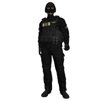 rigged swat soldier 3d max