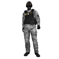 rigged swat soldier 2 max