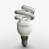 compact light bulb obj