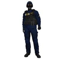 3d rigged swat soldier