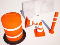 3ds max street cone blocker