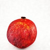 3d model pomegranate