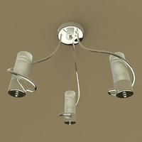 chrome ceiling light obj