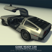 3d model car delorean ready