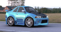 3d smart car nissan skyline