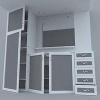 3d bathroom cabinet