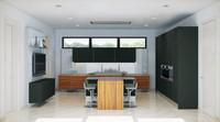 3d max interior kitchen modern
