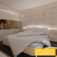 3d model of bedroom rendered